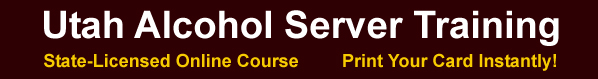 Utah Alcohol Server Training site header image